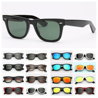 Moda para hombre Gafas de sol para mujer Gafas de sol populares Conducción Gafas de sol UV Protección UV Lentes de vidrio Mujer Mujer Gafas de sol con caja de cuero