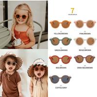 Fashions 7 colori carino in bambini bambini occhiali da sole ragazze ragazzi occhiali da sole color caramella n sfumature per bambini uv400