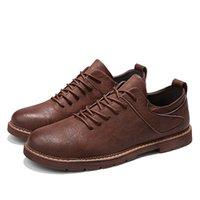 Zapatos planos de cuero para hombres Oxford Zapatos casuales para marrón Top Tim Tenis Feminino Zapatos transpirables al aire libre