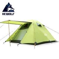 Zelte und Unterkünfte er Wolf Four Seasons Zelt 3-4 Personen Camping Zelt, Eingangshalle Design, atmungsaktive Moskito-Beweis, Reisen, Wandern