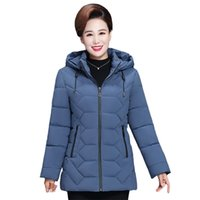 Plus Size 5XL Middle- aged Women Winter Short Jacket Hooded C...