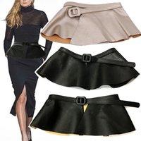 Faux Cuir Ceinture Designer Courroies de luxe pour femmes Cummerbunds Taille Ceinture Court de corset pour robe Jupe Jupe Boucle Boucle Noir