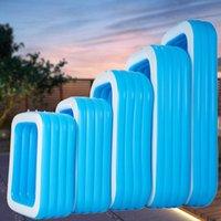 Rectangle gonflé portable jouet famille Courtyard Enfant Enddler avec vidange pompe électrique piscine gonflable pour enfants et un