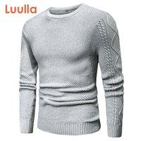 Luulla Men Spring Survey 100% хлопок теплый свитер Pullovers мужчины осень мода 3D геометрический мягкий свитер перемычки мужчины плюс 201124