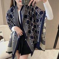 Foulard hivernal de luxe polyvalent de luxe Femmes à la mode Cachemire Chaud Pashmina Foulard Lady Foulards épais bufanda châle