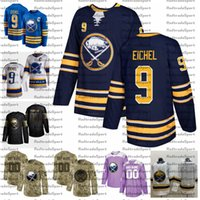 2021 Reverse Retro Personalizza # 9 Jack Eichel Buffalo Sabrers Maglie Golden Edition Camo Veterans Day Fights Cancer Hockey Jersey