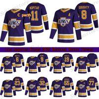 Los Angeles Kings 2021 Reverse Retro Jersey 11 Anze Kopitar 8 Drew Doughty 32 Jonathan Schnell 77 Carter Hockey Trikots
