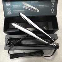 Pelo de alta calidad enderezadores de cabello Professional Styler Planco Plancha de hierro Estilo Pelo Herramienta Blanco y negro En stock
