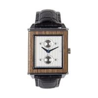 New Men Relógio Moda Personalidade Quadrado de Madeira Strap Waterproof Quartz Watch