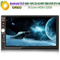 """자동차 오디오 7 """"HD Double DIN Android 8.0 Autoradio Bluetooth Satnav 스테레오 GPS WiFi 4G TPMS DAB + 라디오 DVR DTV-in OBD2 RDS BT USB SD1"""