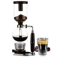 Coffee Tosters Home Style Sifhon Maker Pot Vacuum Coffeeker Tipo de vidrio Filtro de máquina 3CUP 5cups Máquina de espresso1