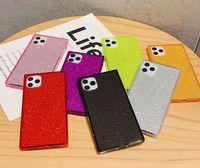 Étui de téléphone carré de Glitter TPU Bling Bling Portugo antichoc pour iPhone 12 Mini Pro Max 11 x XS XS MAX 7 7P 8 8PUS 6S 6S 6PUS