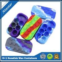 6 + 1 Nichtstick Wachsbehälter Silikon Big Gummi Wachs Jar 7-in-1 Siliziumbehälter Gläser DAB-Speicher Dabber Box DHL
