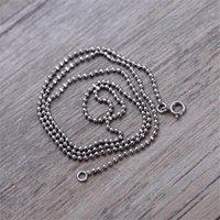 Catene 925 Sterling Silver Collana Basic Collana classica gioielli in forma pendente donna catena ossea perline chian nacklace serpente collegamento