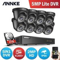 Annke 1080N CCTV كاميرا DVR نظام 8 قطع للماء 2.0mp HD-TVI أسود قبة كاميرات المنزل مراقبة الفيديو كيت كشف الحركة LJ201209