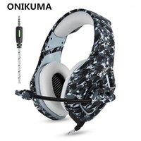 Onikuma K1 التمويه PS4 سماعة باس الألعاب سماعات سماعات لعبة سماعات ميكروفون للكمبيوتر الهاتف المحمول Xbox One Tablet1
