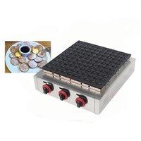 100 Delik Gaz Poffertjes Izgara Ticari Gaz Dorayaki Fırın Yapışmaz Mini Kek Makinesi Makinesi NP-696 Waffle Maker
