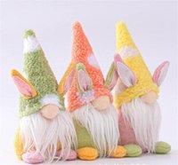 Easter Bunny Gnome Handmade Schwedische Tomte Kaninchen Plüschtiere Puppe Ornamente Ferienhaus Party Dekoration Kinder Ostern Geschenk DB444