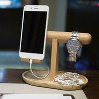 Holder del telefono cellulare in legno orologio Bangle Sundries rack di stoccaggio Home Office Desktop Organizer