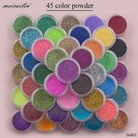 Chiodo glitter 45 pezzi / set zucchero polvere polvere manicure art decorazione fine acrilico cromato pigmento fai da te chiodi di fai da te salone 230g
