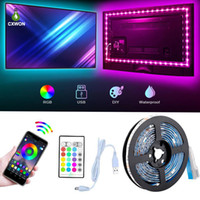 TV Backlight SMD5050 16. 4ft 5V USB Bluetooth RGB LED Strip M...