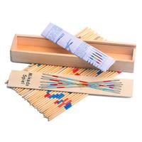 Взрослые дети деревянные игровые палочки коробки упаковывающиеся настольные забрать палочки партия классическая доска ролевые игры играют хорошо 1 6dw j1