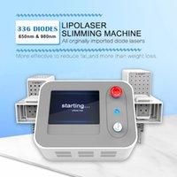 Doble longitud de onda Lipolaser Sistema de adelgazamiento Láser Máquinas de liposucción para la eliminación de grasas en la barbilla abdomen 650nm 980nm Lazer Lipo Diodo