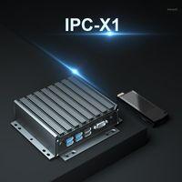 Chatreey X1 phanless البسيطة الكمبيوتر الأساسية الكمبيوتر المكتبي الثلاثي عرض مزدوج LAN منفذ 3 Orders1