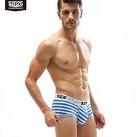 52025 Uomo Biancheria intima Boxer Strisce Strisce Tessuto Stile navy Cotton Modal Soft Traspirante Confortevole Underpants Uomo Underwear Sexy1