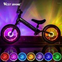 스마트 LED 자전거 바퀴 가벼운 자전거 프론트 꼬리 허브는 7 색 18 모드로 램프를 하나의 램프로 스쳐줍니다 충전식 키즈 자전거 Light1