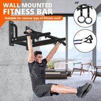 Yatay Barlar Duvar Monte Direniş Bant / El Yüzük ile Set / El Yüzük Ev Spor Çene Up Çekin Eğitim Bar Spor Fitness Ekipmanları