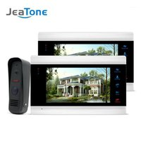 "Video-Tür-Telefone 7 ""Farbe LCD-Telefon Home Security Intercom-System + 1Waterproof Mini-Türklingel-Kamera Multi-Sprache-Menü 1200TVL-Kamera1"