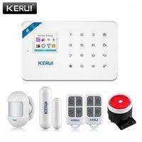 KERUI W18 Sicherheitsalarm für das Haus Alarmsysteme Sicherheit Home GSM WiFi Garage Smart Home Kit mit Rauchfenster Sensor SIREN1