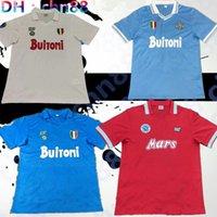 Maradona Napoli Retro Classic 1986 1987 1988 1989 1991 1993 1993 Napoli Soccer Jersey 87/88/89 91/93 Maradona Nápoles Futebol Esportes Camisa