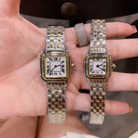 السيدات ساعة الفضة الذهب ووتش امرأة ساعة اليد الكوارتز المرأة ووتش النساء اللباس الساعات الفولاذ المقاوم للصدأ مونتر فام هدية