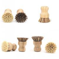 Bulaşık Yıkama Fırça Phoebe Henrii Bambu Fırçalar Pot Kısa Kolu ile Yuvarlak Scrubs Kirli 5 5zq B2