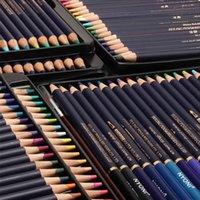 Nyoni 12 / 24/36/8 48/72Colors Акварель набор рисунок цветные карандаши Организаторы де окраска искусства эскиз цветной карандаш Y200709