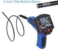 4.3 pulgadas de 5,5 mm 720p Lente dual AV Endoscopio de mano Cámara de inspección 3x ZOOM CMOS CORESCOPO A prueba de agua IP66
