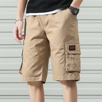 Anbican Fashion 2020 Summer Cargo Shorts Hommes Coton Casual Shorts Homme Lâche Pantalon court T200627