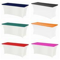 Miscelare il rettangolo del rettangolo di colore della tavola della tavola della tavola della tavola della tavola della tavola della tavola della barra di Lycra Lycra per la decorazione del partito dell'evento dell'hotel1