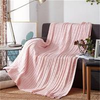 Couverture en coton torsadée hivernale chaude en laine tricotée canapé / housse de lit Canapé de couette tricotée Couverture de canapé 120 * 180cm iIF2867