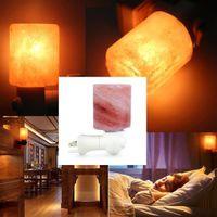 Бесплатная доставка изысканные цилиндры ночные огни натуральные рок-рок Himalaya соляная лампа очиститель воздуха с деревянной основой янтарь