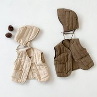 Korean Style Winter Newborn Baby Cotton- padded Vest Hooded W...