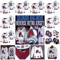 29 Nathan Mackinnon Colorado Avalanche 2020-21 Ters Retro Hokey Jersey Cale Makar Tyson Jost Gabriel Landeskog Mikko Rantanen Ian Cole