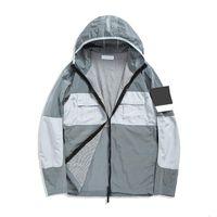 Topstoney 2020 KONNG GONNG Neues Frühling und Herbst Dünne Jacke Mode Marke Beiläufige Mantel Windjacke Metall Nylon Material