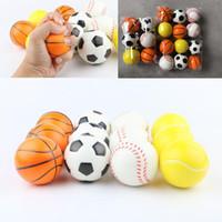 6,3 centímetros suave Espuma de PU bola Baseball Futebol Basquete brinquedo Esponja Balls Fidget Relief brinquedos novidade Esporte brinquedos para as crianças XD24176