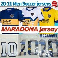 Maradona Jersey Boca Juniors Soccer Jerseys 2021 قمصان كرة القدم الصفراء الثالثة Mailleot Maradona Men Home أزرق أزرق أبيض S-4XL