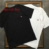 2020 Nouveau été Luxe Luxe Europe Hommes Broderie Bee T-shirt Top Qualité T-shirts Fashion T-shirt de haute qualité T-shirt Femmes Street Street Casual Tee
