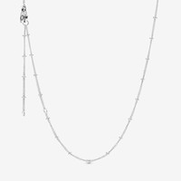 Neue Ankunft Einstellbare 925 Sterling Silber Perlen Kette Halskette Fit Europäische Anhänger und Charms Feine Schmuckgeschenk