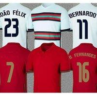 Ronaldo Fußball-Trikots Fernandes Portug Joao Felix Neves Bernardo Cancelo Ruben Neves 2021 Quaresma männer + kinder kit football shirt